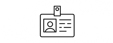 Business support icon - ID badge