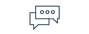 Community monitoring icon - two speech bubbles