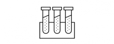 Testing results icon - test tubes
